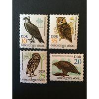 Охраняемые виды птиц. ГДР, 1982, серия 4 марки