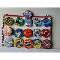 16 значков клубов НХЛ одним лотом.