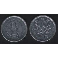 Япония _y95.2 1 йена 1995 год Акихито(Хэйсэй)-7 (h02)