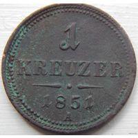 6. Австрия 1 крейцер 1851 год