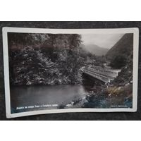 Сочи. Дорога на озеро Рица. Фотооткрытка. 1955 г. Чистая.