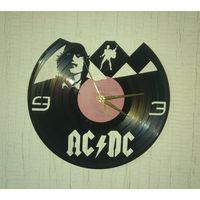 """Часы из виниловой пластинки """"AC/DC"""" 30см"""