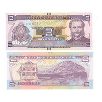 Банкнота Гондурас 2 лемпиры 2014 UNC ПРЕСС