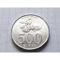 Индонезия 500 рупий, 2003  (Алюминий /серый цвет/ )
