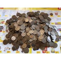 Монеты ссср(1,2,3) копеек 672шт