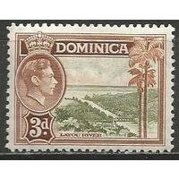 Доминика. Король Георг VI. Речной пейзаж. 1938г. Mi#98.