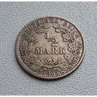 "Германия 1/2 марки, 1905 ""A"" - Берлин  7-10-1"
