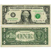США. 1 доллар (образца 2006 года, C, Пенсильвания, P523)