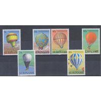 [1074] Суринам 1983. Авиация.Воздушные шары.