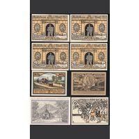 Германия. Нотгельды 1921 - 8 штук.