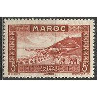 Французское Марокко. Исторический город Агадир. 1933г. Mi#96.
