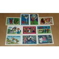 Календарики 1979 Мультфильмы. 10 шт. одним лотом