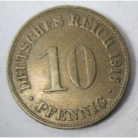 Германия. 10 пфеннигов 1916 D. 2-81