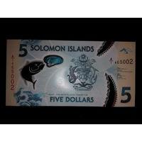 Соломоновы острова. 5 долларов 2019 г. UNC