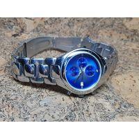 Часы Fossil, хронограф,нержавейка.Старт с рубля.