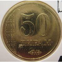 Таджикистан 50 дирамов 2018 г. В холдере