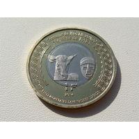 """Среднее Конго. 1 франк 2014 год. Корова """"100 лет Начала 1-й Мировой войны""""  UC#210"""