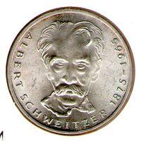 Германия 5 марок 1975 года Альберт Швейцер 1875-1965.