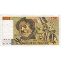 Франция 100 франков 1978.  серия Z8 637559