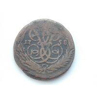 Копейка 1758 1 копейка медь