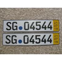 Автомобильный номер Германия SG04544