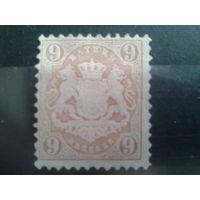 Бавария 1873 Герб* 9пф Михель-6,0 евро с одной звездой