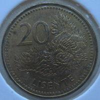 Лесото 20 лисенте 1998 г. В холдере (gk)