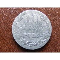 10 грошей pols 1825 IB биллон