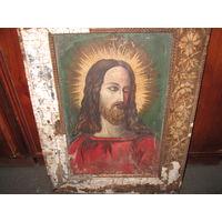 Икона-картина холст,масло 19 век.