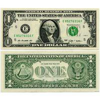 США. 1 доллар (образца 2009 года, E, Вирджиния, P529, UNC)