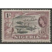 Нигерия. Королева Елизавета II. Плотогоны. 1953г. Mi#79.