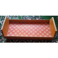 Большая деревянная кроватка для куклы. Качество СССР!