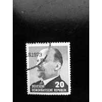 ГДР 1973 год. Вальтер Ульрих