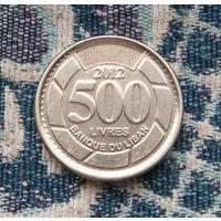 Ливан 500 ливров 2012 года с голограммой. Ливанский Кедр - символ Ливана.