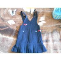 Сарафан темно-синего цвета для девочки на 8-10 лет