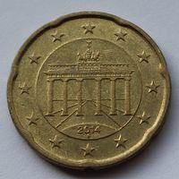 Германия, 20 евроцентов 2014 г. F