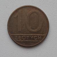 Польша 10 злотых 1989