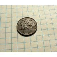 2 гроша 1923 Речь Посполит