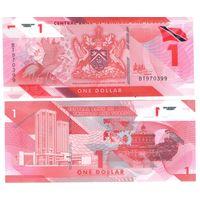 Тринидад и Тобаго 1 доллар  2020 год (полимер) UNC   НОВИНКА