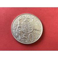 50 центов Австралия 1966 г. (серебро)
