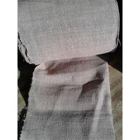 Старинное домотканое льняное полотно.