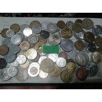 С рубля! 70 монет, весь Мир, но без СССР, УК и РФ (лот#5Y). Сегодня и завтра- новые аукционы!
