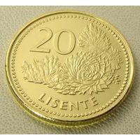 "Лесото. 20 лисенте 1998 год  КМ#64  ""Флора""Герб"""
