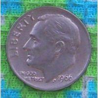 США 10 центов 1966 года, Фрaнклин Делано Рузвельт. Подписывайтесь! Много новых лотов в продаже!!!