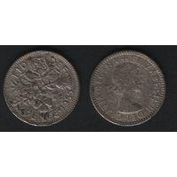 Великобритания _km903 6 пенсов 1955 год (f30)
