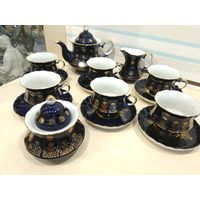 Сервиз чайный,кобальт,15 предметов,Коростень