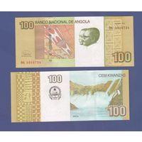Банкнота Ангола 100 кванза 2012 UNC ПРЕСС