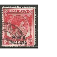 Малайя. Британская военная администрация. Король Георг VI. Пальмы. 1945г. Mi#6.