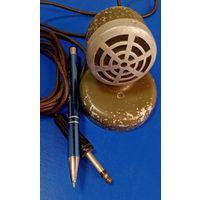 Микрофон военный СССР, 60-е года, тяжелый -553 грамма. 8.5 см высота