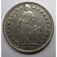 Швейцария. 1\2 франка 1952 Серебро. 260